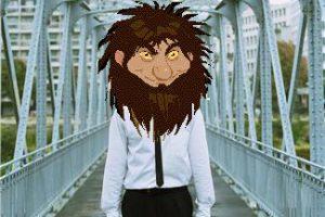 Man with Troll's head. I hope you like my photoshop skills - Enjoy!