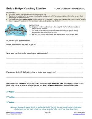 Build a Bridge Coaching Exercise