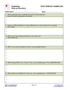 Wrap-up Session Questions Coaching Form Page 1