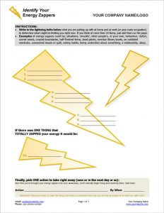 Energy Zappers Coaching Exercise