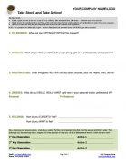 Take Stock and Take Action Worksheet