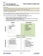 Urgent Important Matrix Template Page 1
