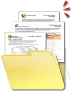 Productivity and Time Management Coaching Tools, Forms, Exercises, Templates in a Folder