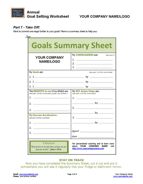 annual goal setting worksheet coaching tools from the coaching tools. Black Bedroom Furniture Sets. Home Design Ideas