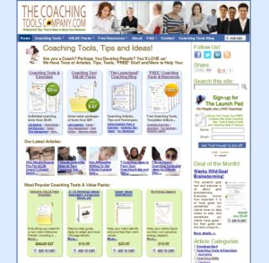 Coaching Tools Company Home Page Screenshot