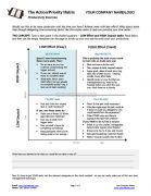 Small Business Coaching Worksheet Action Priority Matrix Page 1