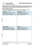 Business SWOT Analysis Tool for Small Business Coaching Page 1