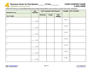 Business Coaching - Business Goals QTRLY-at-a-Glance-500px