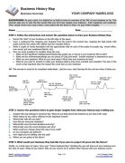 Small Business Coaching Business History Template