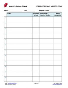 Small Business Coaching Track Client Actions Form Page 1