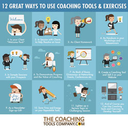 12 Ways to Use Coaching Exercises and Tools INFOGRAPHIC