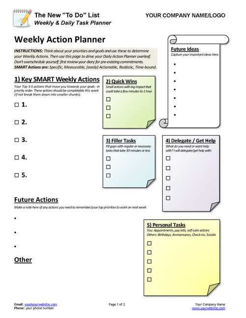 new to do list weekly daily task planner coaching tools from the