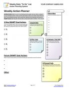 Small Business Coaching Weekly Daily Task Planner Tool Page 1