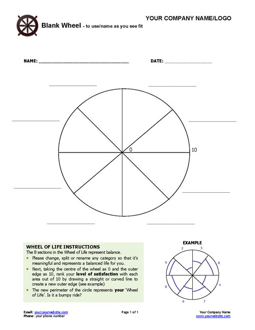 Worksheets Life Coaching Worksheets free coaching tools forms resources the blank wheel of life exercise wheel