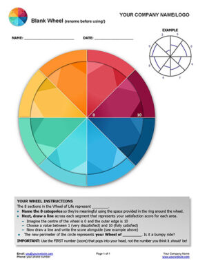 Free Blank Wheel with 8 Colourful segments