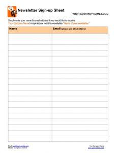 Newsletter Sign-up Form