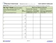 Coaching Program Goal-Setting Worksheet for Next 3 Months