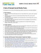 Renew You Love Your Life Coaching Program Sample Social Media Posts Document
