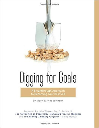 digging for goals book image showing spade and gold