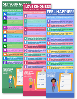 3 Infographics for Coaches on Goal-Setting, Kindness and Feeling Happier!