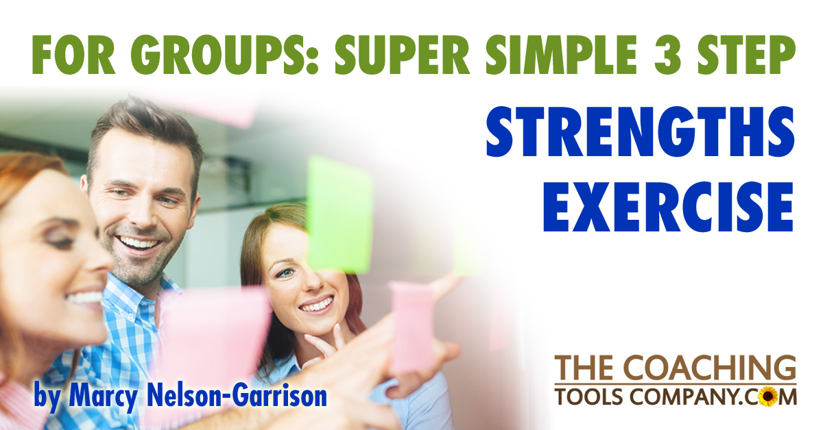 Strengths Exercise for Groups - Smiling people sharing their thoughts with each other