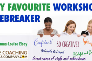 Best Workshop Icebreakers - My Favourite with 3 women looking at large board