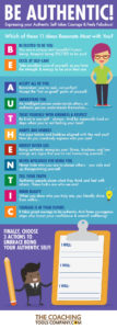 BE AUTHENTIC Infographic Coaching Tools Company