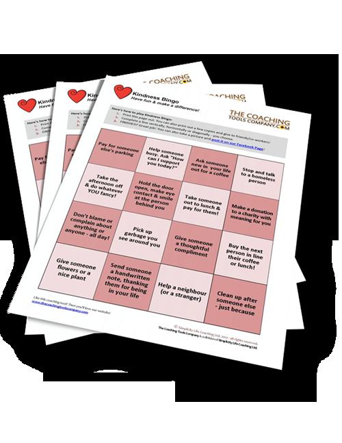Free Kindness Tool Bingo and Funsheet