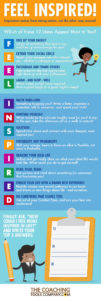 Feel Inspired Infographic from from The Coaching Tools Company