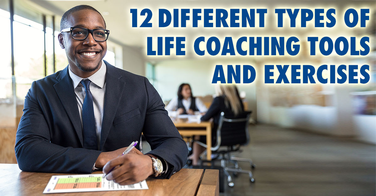 Coach using Life Coaching Tool at their Desk