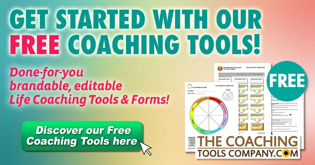 Get Free Life Coaching Tools Image