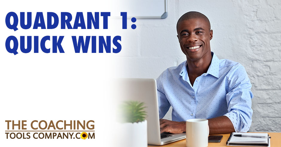 Client Completing Quick Wins at Desk