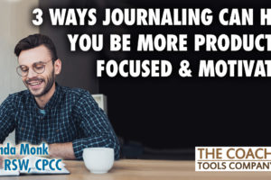 Coach at Desk Journaling for Productivity Focus and Motivation