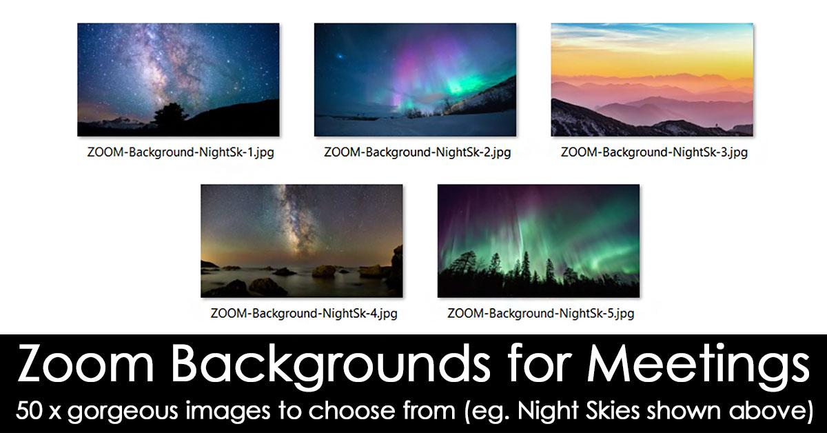 Zoom Backgrounds for Coaches - night skies example