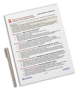 Strengths Identification Worksheet