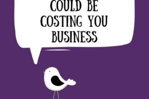 Cartoon bird on a purple background