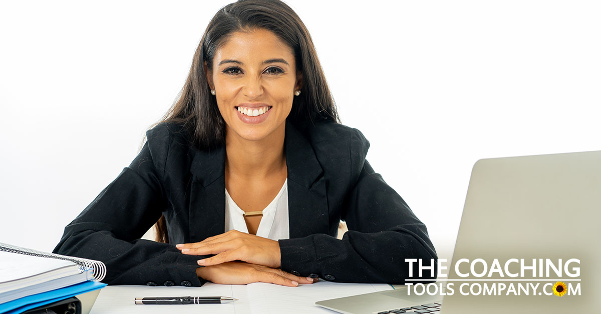 Coach at Desk Identify Strengths with Client