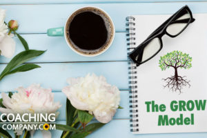 GROW Model Notebook on Desk with Glasses