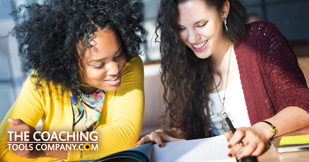 4 Types of Journaling shown by coach with client and journal