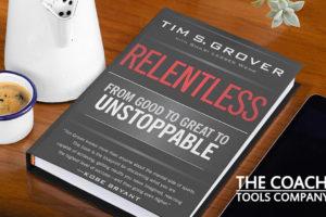 Relentless by Tim Grover Book on Desk