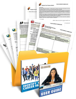 Career Coaching Tools, Forms, Exercises, Templates in a Folder