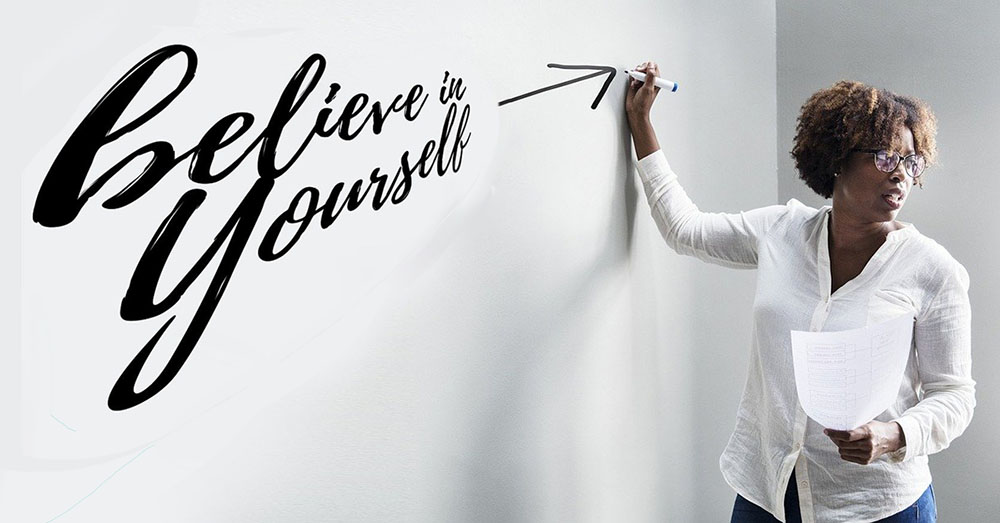 Coach writing Goal Setting Tips Believe in yourself