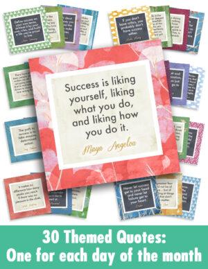 30 Success Quotes arranged
