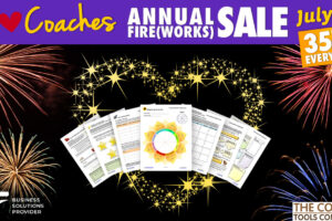 Tools on background of Fireworks - for 10th Annual Sale