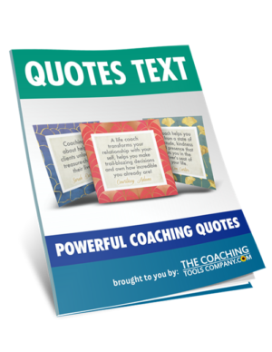 Power of Coaching Quotes Text 3D Image