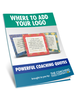 Power of Coaching Quotes Where Add Logo 3D Image
